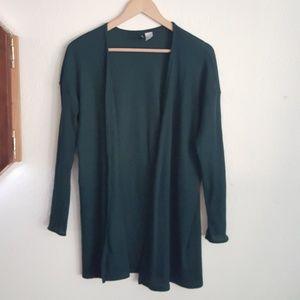Divided Soft Dark Green Cardigan Size Large
